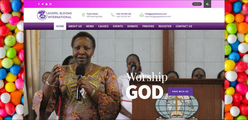 Gospel Blooms - Fix Kenya Limited Web Design Client