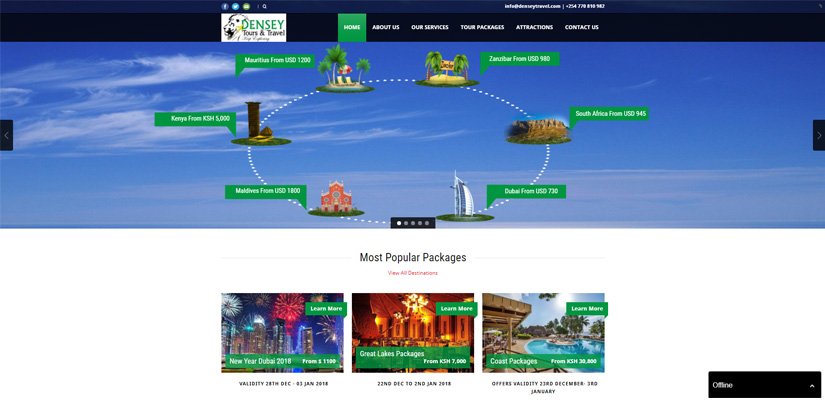 Densey Tours and Travel - Tours and Travel Web Design Fix Kenya Limited
