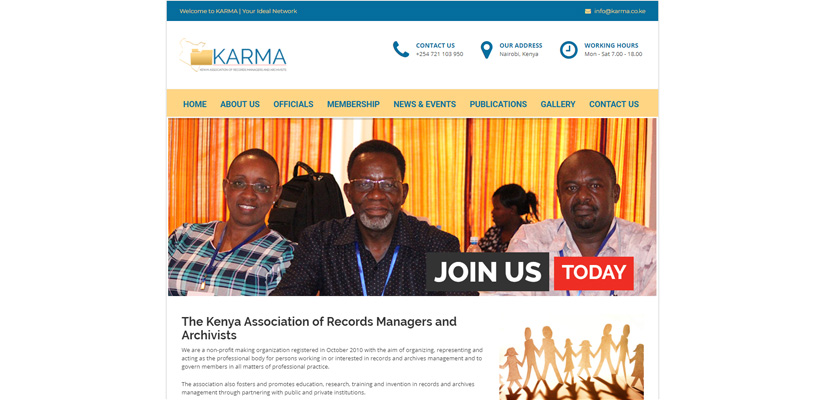 KARMA - Association Web Design Fix Kenya Limited