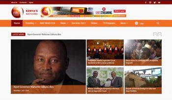 KBC Kenya Broadcasting Corporation - News Web Design Fix Kenya Limited