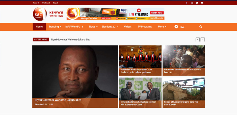 KBC Kenya Broadcasting Corporation - News Web Design Fix Kenya Limited