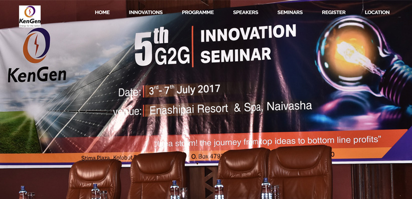 KenGen G2G Seminar - Event Web Design Fix Kenya Limited