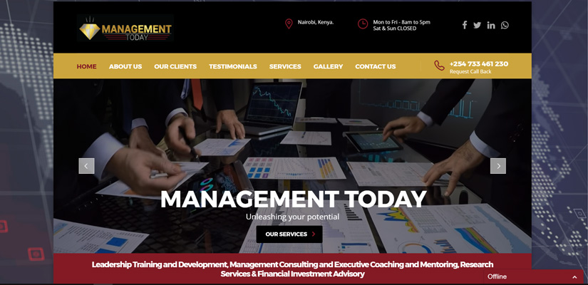 Management Today - Corporate Web design Fix Kenya Limited
