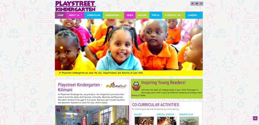 Playstreet School - Kindergarten Web Design Fix Kenya Limited