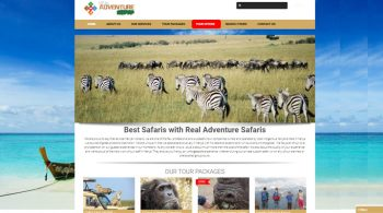 Real Adventure Safaris - Tours and Travel Web Design Fix Kenya Limited