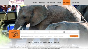 Spacers Tours and Travel - Web Design by Fix Kenya Limited