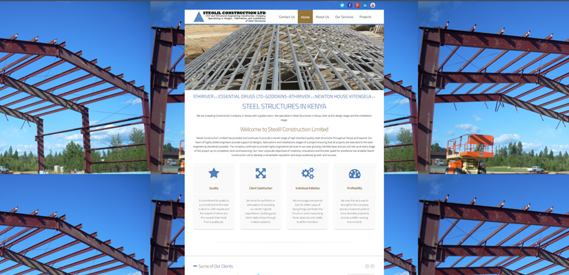 Steolil Construction Limited - Construction Company Web Design Fix Kenya Limited