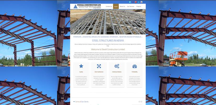 Steolil Construction Limited - Construction Company Web Design Fix Kenya Limited