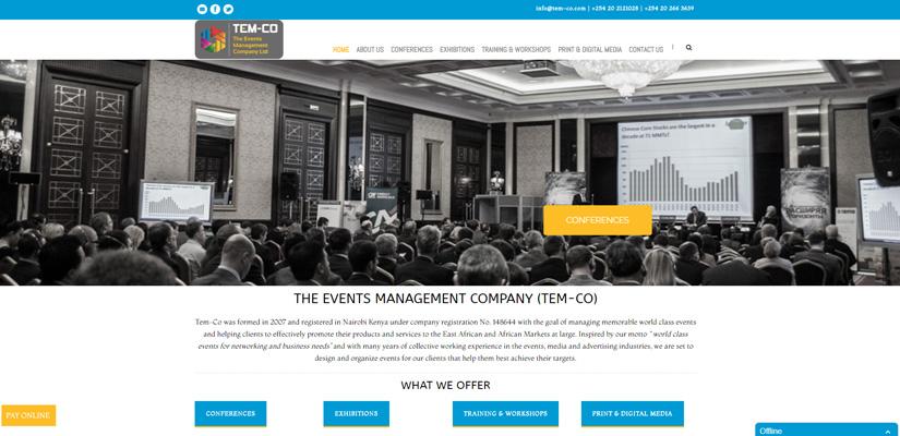 The Events Management Company - Event Management Web Design Fix Kenya Limited