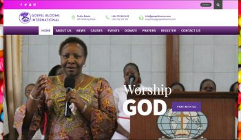 Gospel Blooms - Fix Kenya Limited Web Design Client