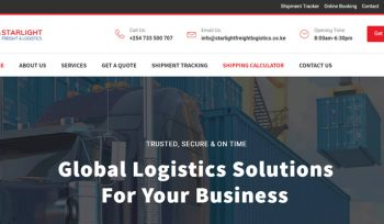 StarLight Freight and Logistics Website Designed by Fix Kenya Limited