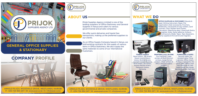 Fix Kenya Limited Clients Brochure Design - Prijok