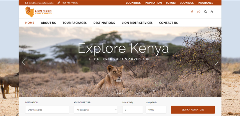 Fix Kenya Limited Clients - Lion Rider Safaris
