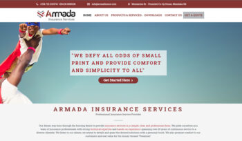 Armada Insurance Services - Fix Kenya Limited Web Design Client in Kenya