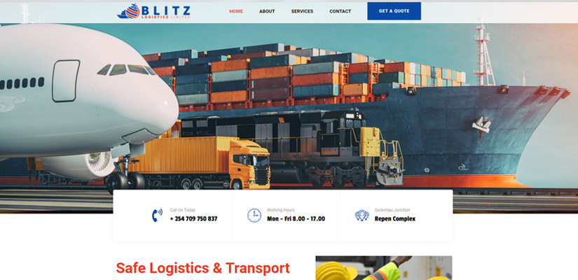 Blitz Logistics Limited - Fix Kenya Limited Web Design Clients in Kenya