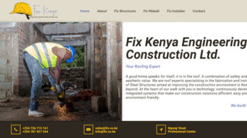 Fix Kenya Engineering - Fix Kenya Limited Web Design Clients in Kenya