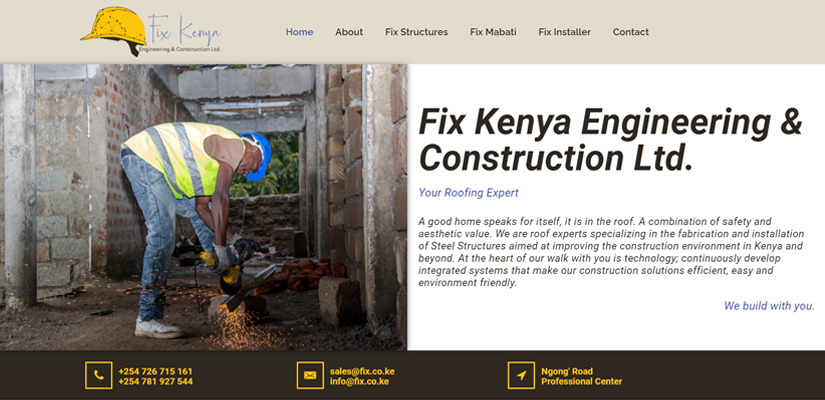Fix Kenya Engineering - Fix Kenya Limited Web Design Clients in Kenya