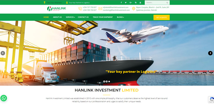 Fix Kenya Limited - Web Design Client in Kenya - Hanlink Investment Limited