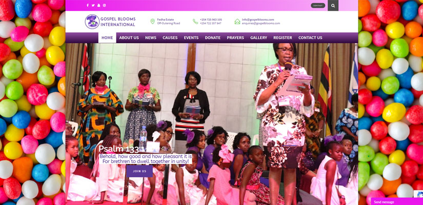 Gospel Blooms International - Fix Kenya Limited Web Design Clients in Kenya