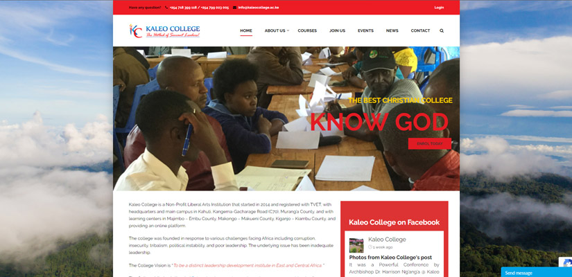 Kaleo College - Fix Kenya Limited Web Design Clients in Kenya