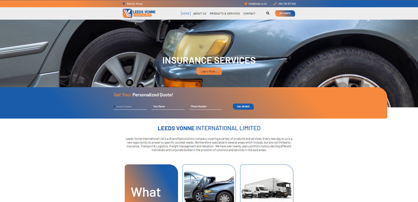 Leeds Vonne International - Fix Kenya Limited Web Design Clients in Kenya