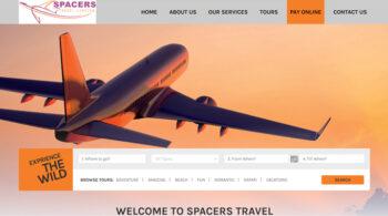 Spacers Travel - Fix Kenya Limited Web Design Clients in Kenya